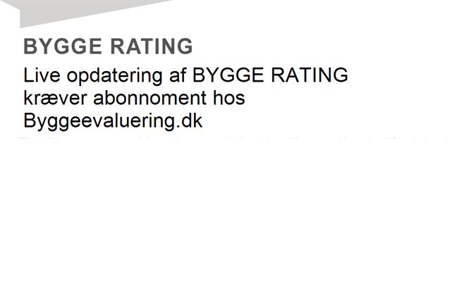 BYGGE RATING for virksomheden med cvr-nr. 10083109